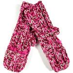 Marc by Marc Jacobs My Boyfriend Pop Top Merino Wool Mittens in Pop Pink Multi