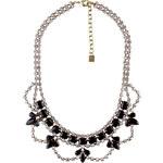 Dannijo Black/Silver Crystal Drop Necklace