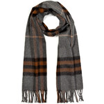 Burberry Shoes & Accessories Cashmere Giant Check Scarf in Nickel Brown Check