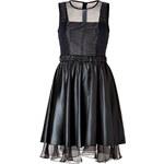 Jonathan Simkhai Tech Taffeta Mixed-Media Dress in Black