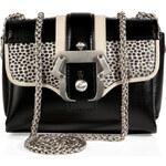 Paula Cademartori Leather/Horsehair Kate Crossbody Bag in Black
