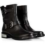 Le Silla Two Buckle Leather Boots in Black