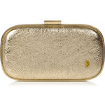 Anya Hindmarch Gold Crinkle Leather Marano Music Box Clutch