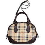 Burberry Shoes & Accessories Chocolate Haymarket Small Orchard Bowling Bag