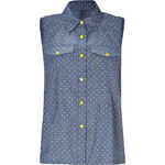 Marc by Marc Jacobs Indigo/Multi Cotton Chambray Top