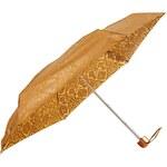 Fulton Micro Damask Print Gold Umbrella - Gold