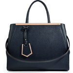 Fendi Leather 2Jours Tote in Blackboard/Blush