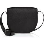 Sophie Hulme Leather Satchel Bag in Stamped Black