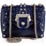 Paula Cademartori Leather Kate Crossbody Bag in Night Blue