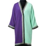 Fausto Puglisi Mint/Purple Kimono Coat