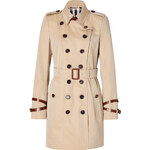 Burberry London Short Cotton Queensborough Trench in Honey