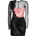 Zuhair Murad Satin/Lace Sheath in Pale Pink/Black