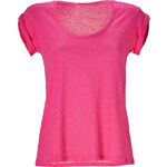 Vanessa Bruno Athé Fuchsia Linen T-Shirt