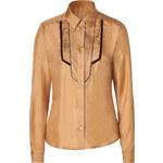 Etro Curry Silk Tuxedo Shirt