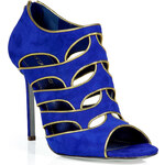 Sergio Rossi Royal Suede Peep Toe Pumps
