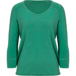 James Perse Green Raw Edge Raglan Sweatshirt