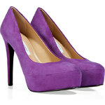 Diane von Furstenberg Purple Suede Leather Pumps