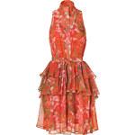 McQ by Alexander McQueen Hot Pink-Multi Printed Silk Georgette Dress