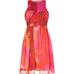 Matthew Williamson Pink-Multi Pleated Silk Chiffon Dress