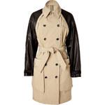 Rag & Bone Khaki Trench Coat with Leather Sleeves