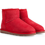 UGG Australia Suede Classic Mini Boots in Red