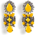 Shourouk Blondie Earrings in Safran