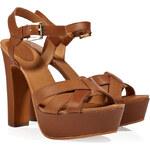 Ash Nude Leather Divina Sandals