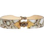 Emilio Pucci Silver Grey Embellished Belt