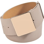Jil Sander Smoke Grey Leather Square Buckle Belt