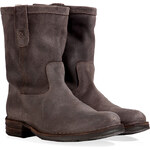 Fiorentini & Baker Suede Boots with Fur Lining in Coffee