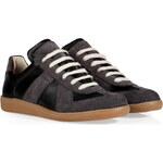 Maison Martin Margiela Leather/Suede Replica Sneakers in Black
