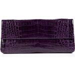 Nancy Gonzalez Crocodile Fold-Over Clutch in Purple