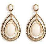 R.J.Graziano Teardrop Earrings in Toned Gold/Nude