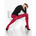 Wolford Tango Red Fine Merino Ribbed Tights