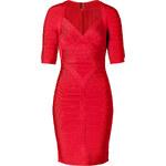 Hervé Léger Dress in Lipstick Red