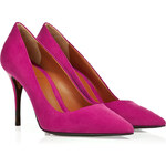 Fendi Suede Pointed Toe Pumps in Fuchsia
