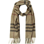 Burberry Shoes & Accessories Cashmere Giant Check Icon Scarf in Smoked Trench