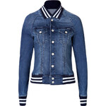Mother Baseball-Style Jean Jacket
