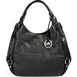 Michael Michael Kors Leather Buckled Side Bedford Hobo in Black