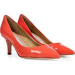 Diane von Furstenberg Peach Nectar Patent Leather Anette Pumps