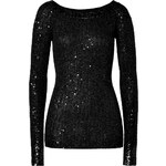 Donna Karan Cashmere-Silk Pullover in Black