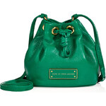 Marc by Marc Jacobs Leather Mini Drawstring Bag in Soccer Pitch Green
