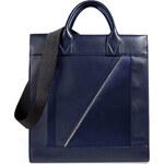 Vionnet Leather/Satin Tote in Indigo