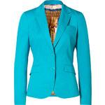 Etro Turquoise Cotton Stretch Blazer