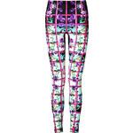 Mary Katrantzou Foli Rose Print Leggings in Pink Multi
