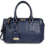 Burberry London Leather Gladstone Tote in Navy Blue