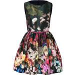 Valentino R.E.D. Floral Print Puff Skirt Dress