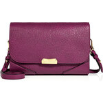 Burberry London Leather Abbott Clutch in Damson Magenta