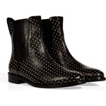 Burberry London Leather Ardglass Ankle Boots in Black