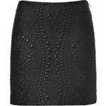 Emilio Pucci Quilted Leather Skirt in Black